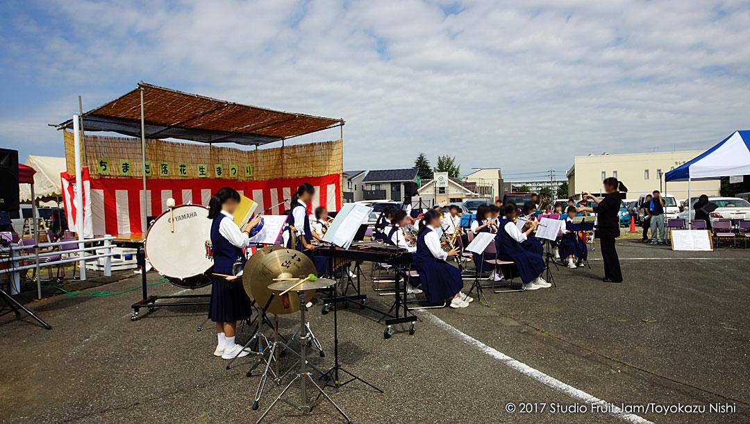 八街中学校の吹奏楽部の皆さんの演奏