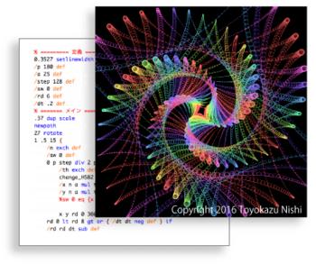 PostScriptプログラミングイメージ